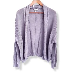 GENTLE FAWN Gray Cable Knit Open Cardigan